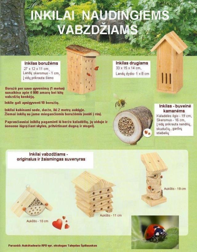 Inkilai naudingiems vabzdžiams