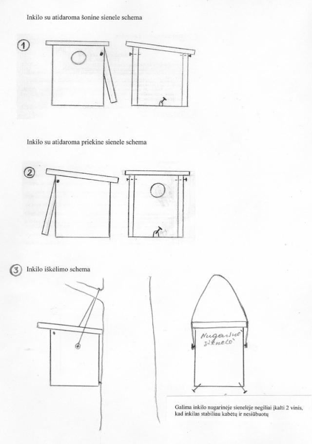 Praktiški patarimai inkilų meistreliams